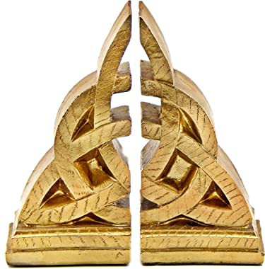 Bellaa 21787 Celtic Bookends Decorative Mystical Knot Design Triquetra 8 Inch Tall