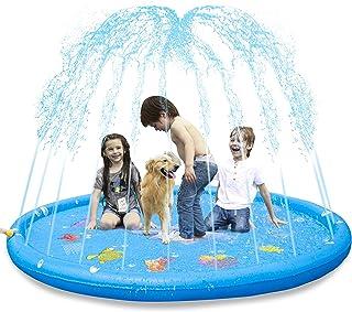 """KKONES Sprinkler Pad & Splash Play Mat 68"""" Toddler Water Toys Fun for 3 4 5 6.."""