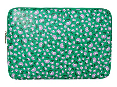Kate Spade New York Party Floral Laptop Sleeve (Meadow Green) Bags