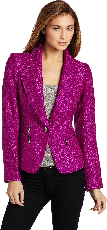 Ak Anne Klein Women's Petite 1 Button Blazer