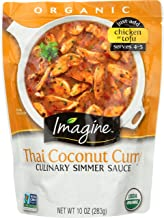 Imagine Culinary Simmer Sauce, Thai Coconut Curry, 10 Ounce - Packaging May Vary