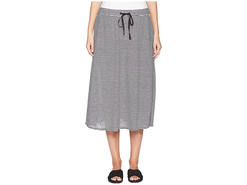 Eileen Fisher Flared C/L Skirt (Black/White) Women's Skirt