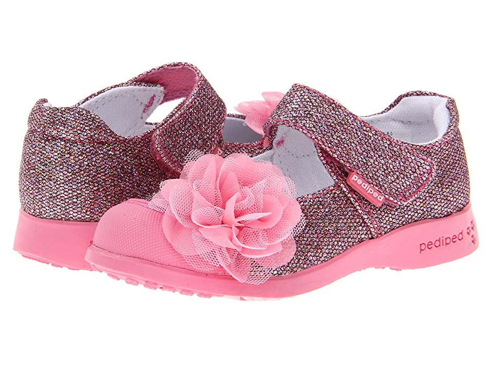 pediped Estella Flex (Toddler/Little Kid) (Pink Synthetics) Girls Shoes