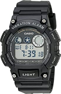 Casio Men's W735H-1AVCF Super Illuminator Watch With Black Resin Band