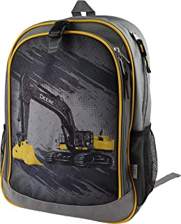 John Deere Boys' Child Excavator Backpack, Grey