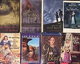 Ann Rinaldi Historical Fiction Novel Collection 8 Book Set