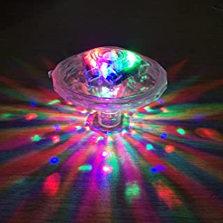 Underwater Bath Light,Floating Lamp LED Disco Aqua Glow Multi Colour Flashing Bathroom Pond Pool Spa Hot Tub Party Night L...