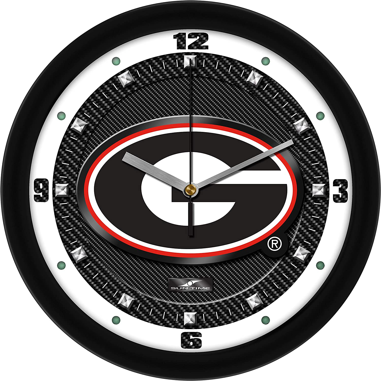 Limited price Georgia Bulldogs - Carbon Fiber Wall 55% OFF Textured Clock