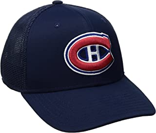 NHL Montreal Canadiens Men's SP17 Trucker Structured Flex Cap, Navy, Small/Medium