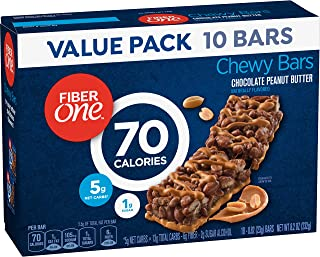 Fiber One 70 Calorie Bar, Chocolate Peanut Butter, 10 Count (Pack of 6)