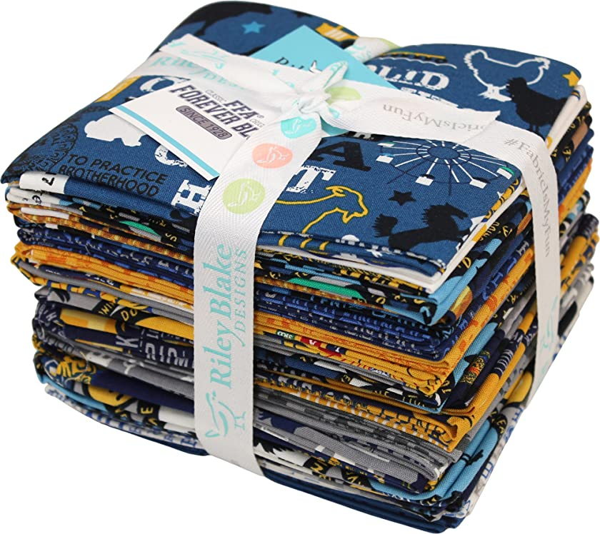 FFA Forever Blue 21 Fat Quarters Riley Blake Designs FQ-7210-21
