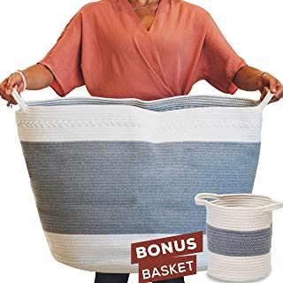 Best large woven basket with handles Reviews