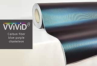 VViViD Chameleon Carbon Fiber Purple to Blue Oil Slick Stretch Conform Caste Vinyl Wrap Decal Roll XPO (50ft x 5ft)