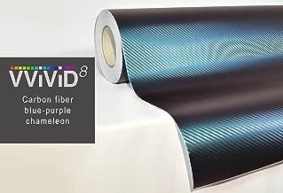 VViViD Chameleon Carbon Fiber Purple to Blue Oil Slick Stretch Conform Caste Vinyl Wrap Decal Roll XPO (25ft x 5ft)