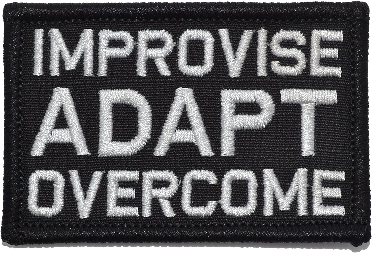 Improvise Adapt Overcome In a popularity - 2x3 Black Over item handling ☆ Patch