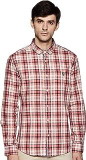 Amazon Brand - House & Shields Men's Checkered Regular Fit Full Sleeve Cotton Casual Shirt