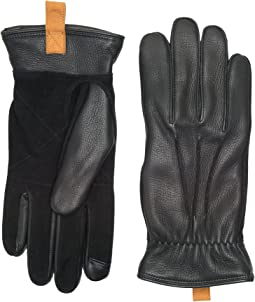 UGG - Leather Smart Gloves w/ Pull Tab
