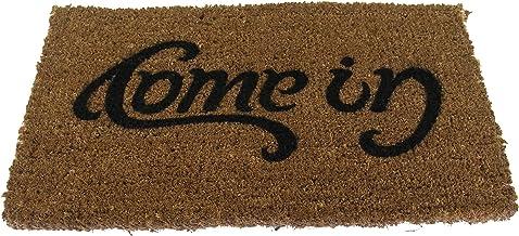 SUCK UK Door MAT | Non Slip ENTRYWAY Rug | Come in & GO Away Doormat |, Brown