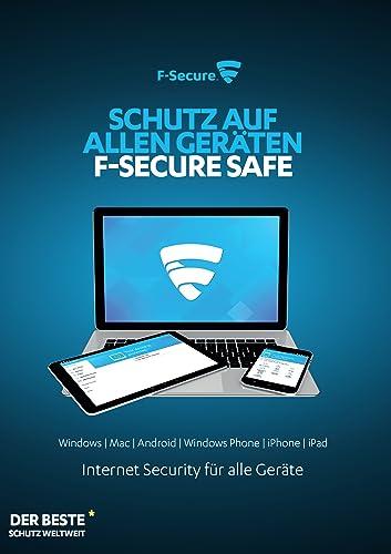 F-Secure SAFE Internet Security 2016 1 Jahr / 5 Geräte [Online Code]