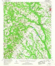 YellowMaps Ashwood SC topo map, 1:62500 Scale, 15 X 15 Minute, Historical, 1957, Updated 1968, 20.8 x 16.9 in