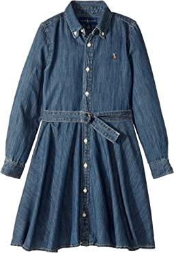 Polo Ralph Lauren Kids - Denim Fit-and-Flare Shirtdress (Little Kids)
