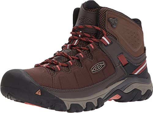 KEEN Men's Targhee exp mid wp-m Hiking botas, Mulch Burnt Ochre, 7.5 M US
