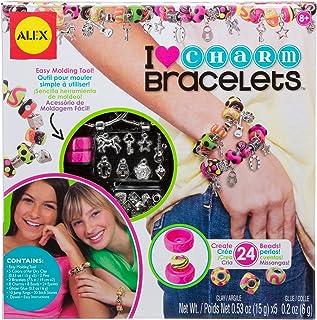 Alex- I Heart Charm Kit para Hacer Brazaletes con Charms, Multicolor (736L)