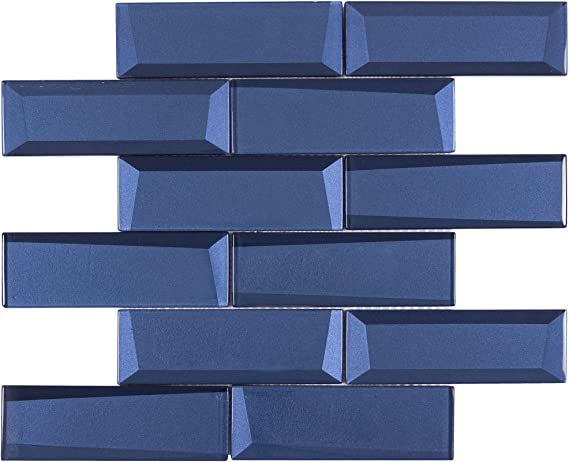 G002506Royal BlueGold plated over brassTriangle faceted glass Connector21x11mm2pcs