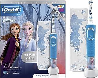 Oral-B Braun Elektrische Zahnbürste für Kinder, wiederaufladbar, 1 Griff und 1 Reiseetui mit Disney Frozen 2, für Kinder a...