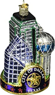 Old World Christmas Ornaments: Cities, Places and Landmarks Glass Blown Ornaments for Christmas Tree, Dallas City