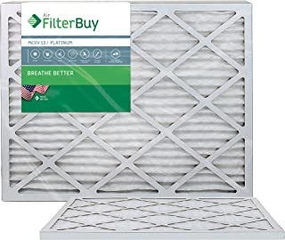 FilterBuy 14x30x1 MERV 13 Pleated AC Furnace Air Filter, (Pack of 2 Filters), 14x30x1 – Platinum