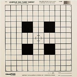 Champion NRA Sight-In GA-53 100-yard Rifle Scope Tagboard Target (Pack of 12)