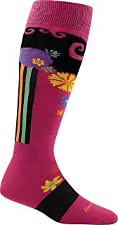 Darn Tough Flowers Cushion Socks Women's Berry
