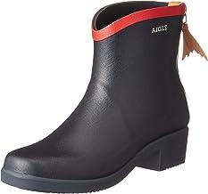 Aigle Womens Miss Juliette Bottillon Navy/Red Rubber Boots - 37 M EU