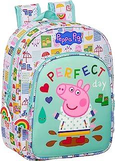612172185 Mochila Escolar Infantil Peppa Pig, 260x110x340mm