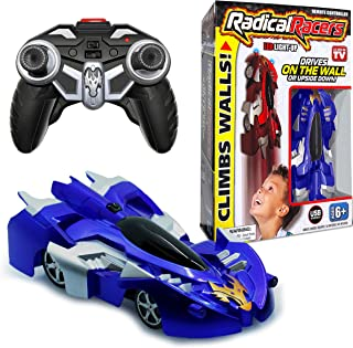 Radical Racers Wall-Climbing Car, Remote-Controlled with 360 Degrees Turn Functionality for Multi Directional Play As Seen On TV (Blue)