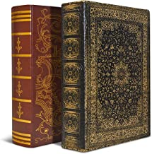 Bellagio-Italia Old World DVD Storage Book Box Combo Pack- Includes One Imperial, and One Persian Design - Store Up to 96 ...