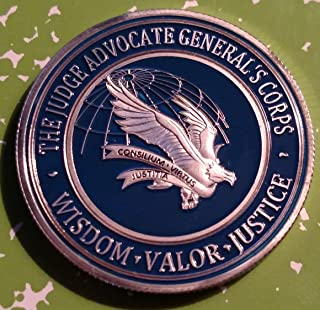 US Air Force JAG Judge Advocate Generals Corp Military Challenge Art Coin