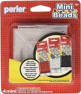 Perler Mini Beads Square Mini Pegboard Set, 4 pcs