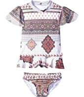 Seafolly Kids - Moroccan Paisley Rashie Set (Infant/Toddler/Little Kids)