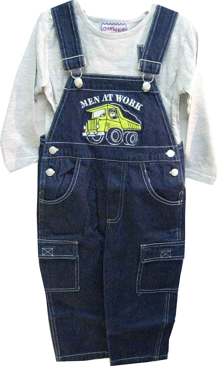 Boys 2T 3T Virginia Beach Mall 4T Indigo Overall Stripe Embrodiery Denim Sales of SALE items from new works 2-PC