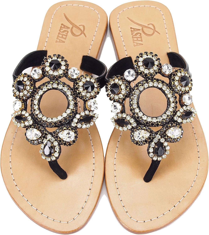 PASHA Gorgeous Jeweled Genuine Leather shoes, Style Sulawesi