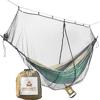 Cushy Camper Hammock Bug Net/Hammock Mosquito Net 11'x4.75' Dual Side Opening - Single/Double Hammocks: Camping Gear: Ultralight Bug Proof Netting - Insect/Fly Screen Shelter Hammocking Accessories