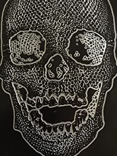 "luvfabrics Black Big Skull Upholstery Apparel Vinyl Fabric - Sold by The Yard - 54"" Ships Rolled"