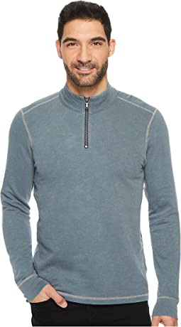 Agave Denim - Barrel Long Sleeve 1/4 Zip Slub Terry