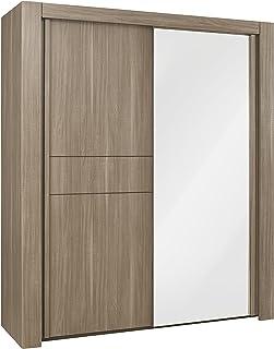 GAMI Moka Armoire 2 Portes coulissantes, Finition Bois, 63 x 192 x 220 cm