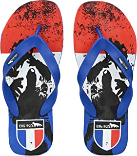 Big Fox Men's Printed Flip Flops and House Slippers