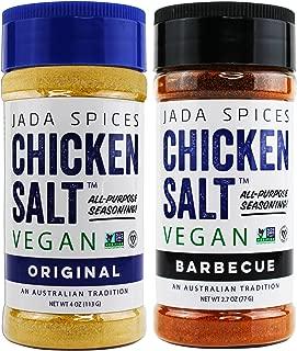 Chicken Salt - Vegan, Non-GMO, NO MSG, Gluten Free, Australia's #1 All-Purpose Seasoning (Original, BBQ)