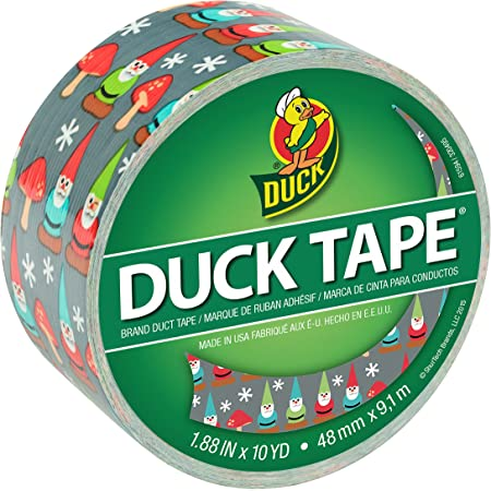 Duck Brand 284177 Printed Duct Tape, Winking Gnome, 1.88 Inches x 10 Yards, Single Roll