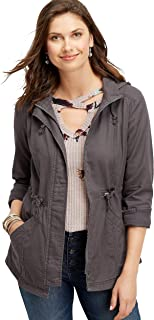 maurices Women's Solid Hooded Anorak Jacket